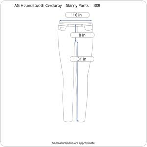 Ag Adriano Goldschmied Pants - AG Adriano Goldschmeid Houndstooth Legging Pants